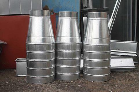 Готовый заказ на прямоугольные и круглые оцинкованные воздуховоды