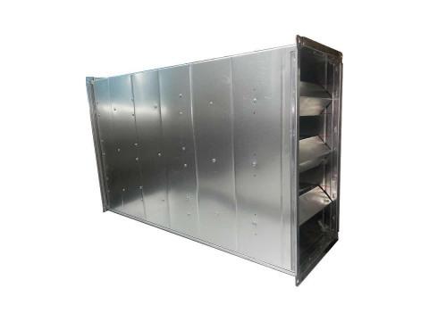 Шумоглушитель прямоугольный Eвростандарт для воздуховодов из оцинкованной стали