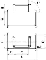 Тройник прямоугольный