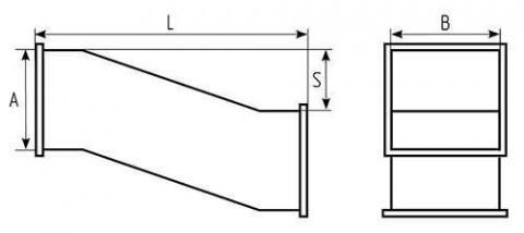 Утка смещения прямоугольная